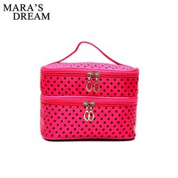 Watermelon Cosmetic Bags Cases UK - Mara's Dream Travel Cosmetic Bag Women Functional Makeup Case Zipper Make Up Bags Organizer Storage Pouch Toiletry Wash Bags