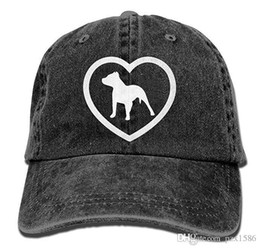 $enCountryForm.capitalKeyWord Canada - pzx@ Baseball Cap for Men and Women, Pit Bull Heart Mens Cotton Adjustable Jeans Cap Hat Multi-color optional