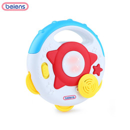 drum percussion instrument 2018 - Beiens Percussion Musical Instruments Bells Children Drum Baby Musical Toys Educational Multicolor Maracas 0-12 Month ch