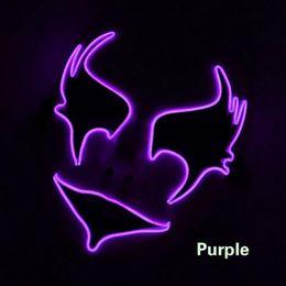 $enCountryForm.capitalKeyWord Australia - Hanzi_masks 2018 Hot sales Halloween Mask 10 Colors Select Party LED Mask EL Mask For Glowing Wedding Decoration