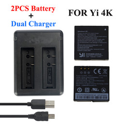 battery for xiaomi yi Australia - Batteries Digital Batteries Xiaomi Yi 4K 2 1400Mah 2 Pcs Battery + Xiao Yi 2 USB Dual Battery Charger For Sport