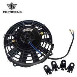 Vente en gros PQY - 7 pouces universel 12V 80W mince radiateur électrique réversible AUTO FAN Push Pull Avec kit de montage type I 7