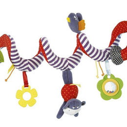 China Cute Infant Baby Play Activity Spiral Bed & Stroller Toys Set Hanging Toys 2018 New Arrival High Quality suppliers