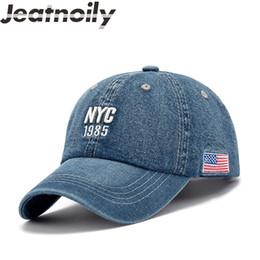 $enCountryForm.capitalKeyWord Canada - 2018 New Trend Letter NYC Women Denim Baseball Cap Adjustable Cotton Cowboy Snapback Caps Hip Hop Hats Men Bone Autumn Jeans Hat