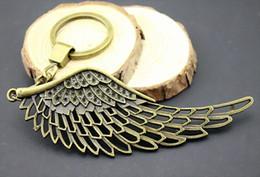 $enCountryForm.capitalKeyWord NZ - 6 Pieces Key Chain Women Key Rings Car Keychain For Keys Big Wing 108mm