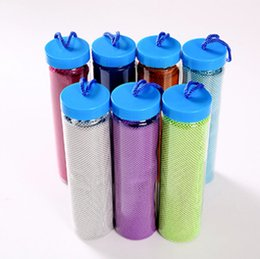 Dry packs online shopping - 90 cm Bottle Pack Ice Towel Outdoor Cooling Towel Sunstroke Sports Exercise Cool Quick Dry Soft Breathable Cooling Towel GGA158