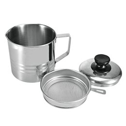 Storage Containers Kitchen NZ - Functional Kitchen Filter Cup Stainless Steel Oil Strainer Orange Lemon Fruit Filters with Handle Lid Soy Milk Storage Container Y18110204