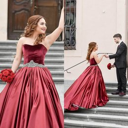 Romantic Sweetheart Wedding Dress High Quality Satin Backless Sweep Train Bridal  Gowns With Crystal Belt Custom Made f0b59797c9b0