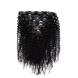 $enCountryForm.capitalKeyWord UK - mongolian kinky curly hair clip in 100G african american clip in human hair extensions 7pcs clip in human hair extensions