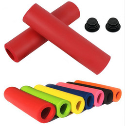 Discount silicone handle grip - 1Pair Bicycle Handle bar Grips Cover Outdoor MTB Mountain Bike Cycling Bicycle Silicone Anti-slip Handlebar Soft Grips N