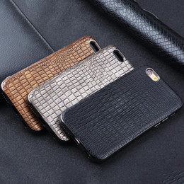 $enCountryForm.capitalKeyWord NZ - Retro coque for Iphone 6 6S case cover Black luxury antique gold silver crocodile leather TPU fundas shock ressistance