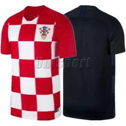 2018 camisetas futbol World Cup 2018 Croatias Home Away Men's Soccer  Jerseys Rakitic Modric Kovacia Futbol