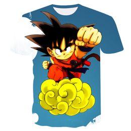 China dragon ball tshirt mens 3d print tshirts super saiyan goku figure 2018 men summer fashion dragonball casual t Shirt tops tee cheap dragonball super suppliers