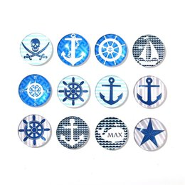 fridge magnet packaging 2019 - Creative Nordic Style Fridge Magnet Round Design Sailing Ships Crystal Glass Refrigerator Sticker Novelty Home Decoratio