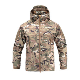 China Lurker Shark Skin Soft Shell V4 Military Tactical Jacket Men Waterproof Windproof Warm Coat Camouflage Hooded Camo Army Clothing Y1893006 cheap soft skin tactical jacket suppliers