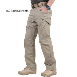 Wholesale cargo pants resale online - High Quality Cheap IX9 II City Cargo Combat Tactical Pants Men Army Training Pants IX7 Cotton Pocket Paintball Casual Trousers