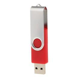 Red Flash Drive UK - Red Rotating 32GB USB 2.0 Flash Drive Bulk 50pcs Swivel Metal Flash Memory Stick 32gb Thumb Pen Drives Storage for Computer Laptop Tablet
