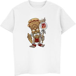 China Wilson Warrior Tiki God T Shirts Prevalent Mens Ostern Day Tops Shirt 3D Printed Clothing Shirt Male 100% Cotton Tees Tops cheap warriors clothes suppliers