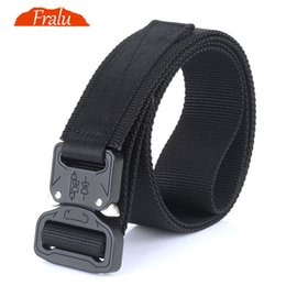 camouflage paintball 2019 - FRALU NEW Camouflage  Equipment Tactical Belt Men SWAT Combat Knock Off Army Belt Nylon Heavy Duty Paintball Waist cheap