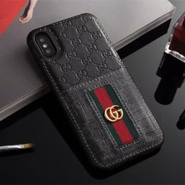 Wholesale Luxury Phone Case for Samsung S10 PLUS s10 e S8 S8plus S9 S9plus Note9 Leather Bee Snake Pattern Print Case for iPhone X Xs Max Plus