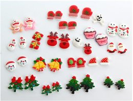 Wholesale Colorful mixed christmas designs Styles DIY cell phone case accessories charms For Glass Living Lockets Jewelry DIY