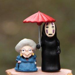 $enCountryForm.capitalKeyWord Australia - Miyazaki Hayao Spirited Away Umbrella No Face Man PVC Action Toy Figures Studio Ghibli Japanese Anime Cartoon Micro Landscape
