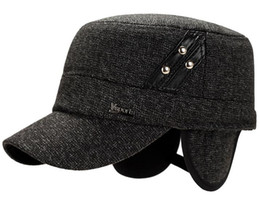 $enCountryForm.capitalKeyWord Canada - Hat man winter leisure middle-aged and old flat hat outdoor winter warm hat earmuffs han edition of the new cap