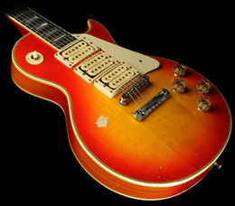 "Discount ace frehley guitar custom - Custom Shop Ace Frehley ""Budokan"" Aged and Signed Electric Guitar Heritage Cherry Sunburst"
