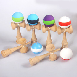 TradiTional japanese games kids online shopping - Kendama Ball Big size cm Japanese Traditional Wood Kendama Ball Game Toy Education Gift Kendama Ball Wood Toys OTH873