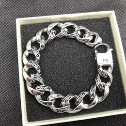 $enCountryForm.capitalKeyWord NZ - USENSET 15mm Curb Cuban Stainless Steel Bracelet Mens Solid Chain Clasp Link Bracelets Silver Tone Fancy Jewelry Gift Promotion