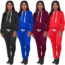 China women two piece outfits hoodie leggings tracksuits warm winter fall autumn long sleeve sweatshirts sweat pants sportswear wholesale loigt supplier black yoga pants outfit suppliers