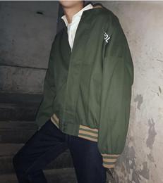 $enCountryForm.capitalKeyWord NZ - Man han edition of the new fashion boutique personality loose stitching the baseball uniform wind coat M - 2 xl