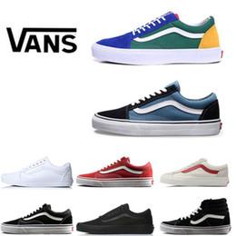 1efb08e2ba2 vans shoes Canvas clássico Azul Branco Preto Vermelho Tênis Esportivos para  mulheres dos homens Originais Unisex skool velho sapato Skate Correndo  calçados ...