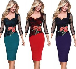 7f0ab3c08dac Discount half sleeves dresses office wear - Free Shipping Women Sheath  Bodycon Pencil Dresses Printed Office