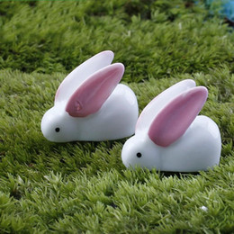moss rabbit 2019 - Micro Landscape Ornament Big Ear Rabbit Easter Decor Moss Fairy Garden Decoration Resin Arts Craftwork New 0 15dd ii dis