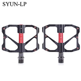 Aluminum Pedals Australia - SYUN-LP Paired Outdoor Cycling Road Mountain Bicycle Bike Pedal Aluminum Alloy Bike Pedal for Mountain MTB Road Bicycle Outdoor Sports