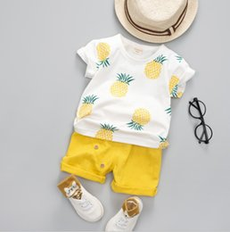 $enCountryForm.capitalKeyWord Australia - New Summer Baby Boys Clothes Suits Infant Cotton Pineapple Printed Casual Sets T-Shirt + Pants 2pcs Children Suits free shipping