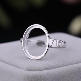 $enCountryForm.capitalKeyWord NZ - 925 Sterling Silver Engagement Wedding Ring for Women Men 11x14mm Oval Cabochon Semi Mount Ring Setting DIY Stone