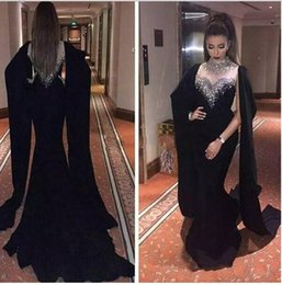 26f32b2b482 Arabic Mermaid Evening Dresses High Neck Long Prom Gowns Sheath Pageant Best  Formal Prom Dress Gowns