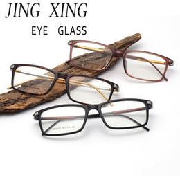 f76317b01b511 JINGXING Óculos de Armação Dos Homens Das Mulheres de Computador Óculos de  Olho Óptico Transparente Lente Clara liga De Alumínio-magnésio