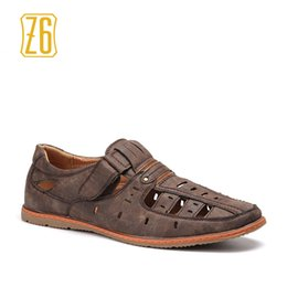 b63f77a6b54f 40-45 men summer shoes Z6 brand Classic style fretwork Gladiator Retro  sandals  A82-12