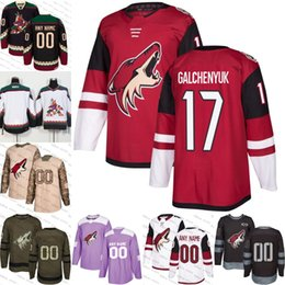 2018-2019 Men s Arizona Coyotes 17 Alex Galchenyuk Ice Hockey Jersey purple  black white army green 100th flat usa women youth size S-3XL fc742a734