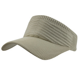 68b8d1c7f Womens Girls Summer Lace Knitted Mesh Quick-dry Fabric Empty Top Running  Golf Stretchy Sun UV Peaked Baseball Visor Hat Cap