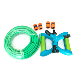 Hose Repair Australia - garden and lawn irrigation kit 10 m 1 2'' Pvc Hose 360 Degree Circle Rotating Sprinkler 2pcs 1 2'' Quick Connector Repair joints