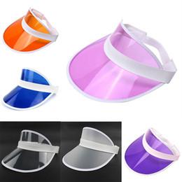 Cappello da sole da donna trasparente in plastica PVC Cappello a cilindro  vuoto protezione UV Cappello da sole visiera Estate 2018 Nuovo arrivo 71709ca997d3