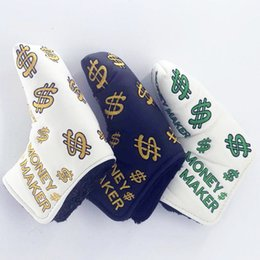 Discount blade golf clubs - Dollar Symbol Embroidered Golf Putter Head Cover Money Market Blade Club Cover L-shaped 3colors