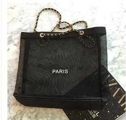 ae2fb2caf Bolsos de hombro de cadena de malla transparente de las mujeres de moda  caliente totalizador diseñador de compras bolsos