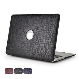Macbook Leather NZ - NEWEST Release 2017 & 2016 With Without Touch Bar&Touch ID Shell Cover Soft Touch Crocodile Grain Case For Macbook 11 12 13 15 Inch