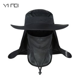 YIFEI Waterproof Big Bucket Hats with a wide brim New Summer wind-proof Sun  Hat SPF 30+ UV Protection Fishing Hat Fisherman Cap b120a8b179d