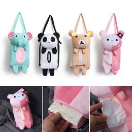 Tissue box holders online shopping - 1 Cute Cartoon Car Seat Back Cover Holder Paper Napkin Box Tissue Box Car Accessories Styling